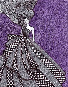 Checkerboard Dress by Ithelda on DeviantArt Names Of Artists, Various Artists, Fantasy Drawings, Art Drawings, Because He Lives, Father Figure, Children Images, Traditional Art, Art Images