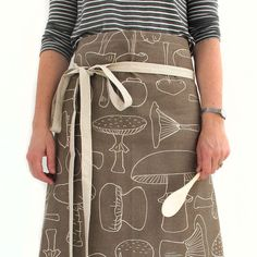 Apron - Mushrooms, in Loam by   skinnylaminx. for mom $42.30