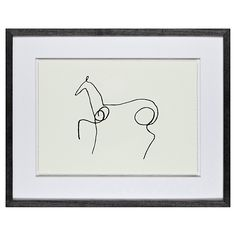 Neeeeigh  Buy Pablo Picasso - Le Cheval, Framed Print, 40 x 50cm | John Lewis