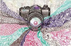 Camera Drawing by LOVEMILY