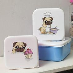 Pugs love cake, cakes love pugs :p #pug #carlino #lunchboxes #contenitoreperalimenti #pausapranzo