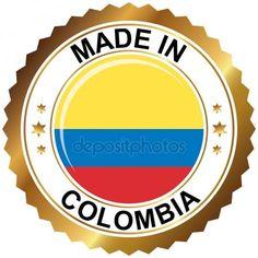 Hechos en colombia Ilustración De Stock