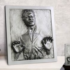 Han Solo in Carbonite Plaque Star Wars Statue Alien Queen, The Empire Strikes Back, Han Solo, Star Wars Collection, Man Of Steel, Star Wars Art, Wall Sculptures, Detailed Image, Marvel