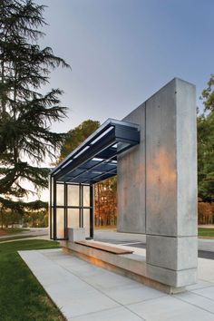 Bus Shelter by Pearce Brinkley Cease Lee, Raleigh, North Carolina, USA Seattle should consider this idea. Metro bus shelters are blah.