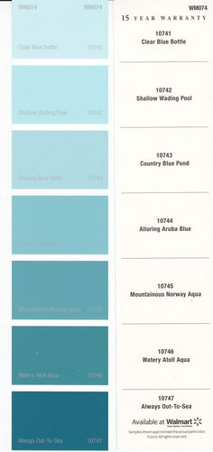 Aqua Paint Colors there are no coincidences in life. i just found this. i saved this