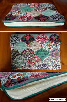 clam shell liberty laptop case Laptop Case, Clams, Liberty, Shells, Quilts, Stitch, Blanket, Ideas, Conch Shells