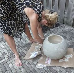 Hoe vinden jullie mijn nieuwe pot? Dit is weer een uitprobeersel geweest van iets nieuws en ik vind dat ie erg goed gelukt is, pre...