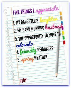 Five Things I Appreciate #OrigamiOwl