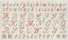 cross stitching alphabet #abc's #monogram #letters #cross-stitch
