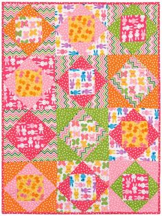 """Economie Zoologie"" quilt pattern designed by Robert Kaufman Fabrics. Uses Urban Zoologie Flannel and Remix Flannel by Ann Kelle. FREE Pattern."