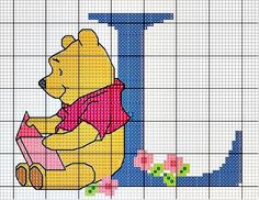Pooh Bear Alphabet - a single letter would make a lovely monogram for either sex of child.