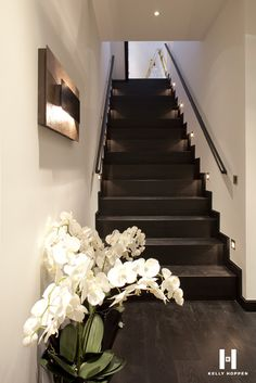 Kelly Hoppen for Regal Homes @ Circus Road Kelly Hoppen Interiors, Wooden Stairs, Wood Staircase, Staircases, Modern Floor Lamps, Chandeliers Modern, Mid Century House, Luxury Home Decor, Dining Room Design