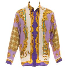 Gianni Versace Men's Silk Medusa Print Shirt, Circa 1990's   1stdibs.com