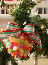 Candy Kissing Ball! ♥♥♥ Use a bow that would match the colors of the gumdrops instead of this bow.