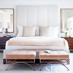 More blush from this chic bedroom by @heatherhilliarddesign Even though…