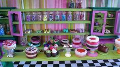 miniature candy shops | Miniature Candy and Cakes at Honeydukes Sweet Shop Heather's Water ...