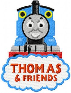 Shoply.com -Thomas The Train and Friends Logo Filled Machine Embroidery Design in 4 Sizes. Only $3.99