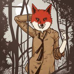 Fox | Животные, Лиса Принты на одежду, иллюстрации для футболок, худи, свитеров и пр.