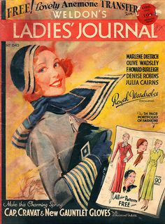 The beautiful April 1933 cover of Weldon's Ladies Journal.