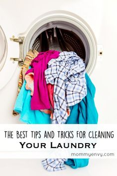 The best tips for cleaning your laundry. This is probably the hardest thing for me to get done!