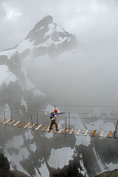 Skywalker, Mt. Nimbus, Canada photo via janet....I would S*%T my pants!