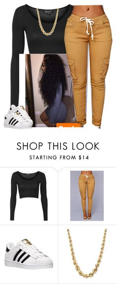 """""""School-Me-Draft ✨"""" by newtrillvibes ❤ liked on Polyvore featuring Topshop and adidas"""