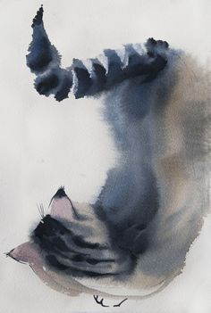 Sposky№6 sketch 19*28sm watercolor on paper by Olga Flerova