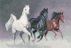 Wild Horses - John Clayton Cross Stitch