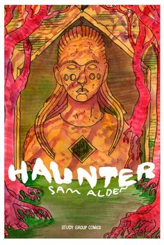 Sam's first long-form work, painted in lush and colorful ink washes. It's a wordless tale of a young woman trying to survive an ancient evil in an unknown land. The pacing and storytelling in Haunter is completely masterful.  Jeff Smith (Bone) liked it so much that he recently published a short exc