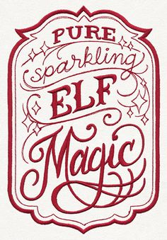 Craft some holiday charm with this Elf Magic apothecary-style label design…