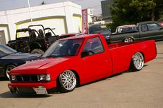 Anything with an engine and wheels Most of these picture aren't mine. They've been saved from all over the net. Nissan Vans, Nissan Trucks, Bagged Trucks, Mini Trucks, Custom Trucks, Custom Cars, Holden Rodeo, Nissan Hardbody, Datsun Car