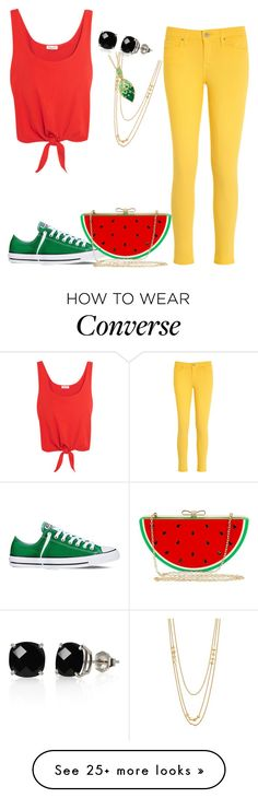 """Untitled #808"" by cecilialukas on Polyvore featuring Splendid, Tommy Hilfiger, Converse, Jessica McClintock, Belk & Co., Gorjana and Palm Beach Jewelry"