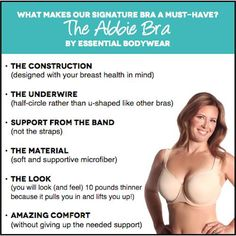 Bras created with your breast health in mind www.myessentialbodywear.com/deborahstone