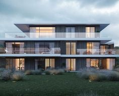 P654_groenzicht_zicht 06_HR_2017.06.29 (1)-min Architecture Building Design, Building Facade, Facade Design, Residential Architecture, Exterior Design, Building A House, Small Buildings, Modern Buildings, Minimalist House Design