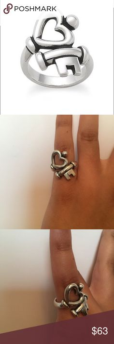 James Avery Key to My Heart Ring Classic James Avery ring, great condition! James Avery Jewelry Rings