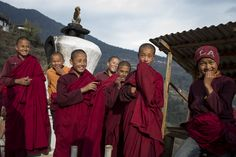The locals are all smiles and laughter in Bhutan! Image: Conor_Ashleigh_-®2014