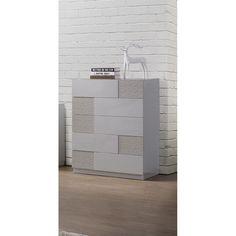 Best Master Furniture Naple Silver Line 5 Drawer Chest