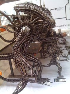 Alien by Metal Park (http://metalpark.org/).  Made out of used engine parts and scrap metal.
