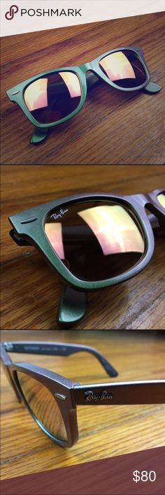 Rare. Ray-Ban Cosmo Collection Super cool, iridescent sunnies. Metallic look. Quirky and unique. No scratches. No case. No trades. Ray-Ban Accessories Sunglasses