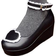 Partiss Damen Sweet Lolita Wedge Shoes Japanisch High-top Casual Lolita Pumps Herbst Fruehling Hochzeit Tanzenball Maskerade Cosplay Diestmaedchen Bowknots Platform Pumps Lolita Schuhen,34,Black Partiss http://www.amazon.de/dp/B01EJ3TYZK/ref=cm_sw_r_pi_dp_7XXfxb0ENAVDD
