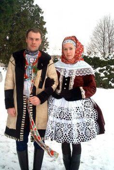 Kyjov folk costum; Pár v zimním kroji