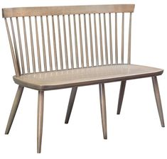 Amish 4' Carlsbad Bench Delightful bench seat built by hand in choice of cherry or brown maple wood. Solid and stunning. #bench #entrywaybench