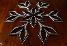 Snowflake Sx  String art sacred geometry psychedelic wall