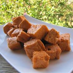 Pumpkin Marshmallows Recipe Desserts with unflavored gelatin, cold water, white sugar, light corn syrup, water, pumpkin purée, ground cinnamon, ground ginger, ground nutmeg, ground allspice, salt, color food orang, unsweetened cocoa powder, corn starch, confectioners sugar