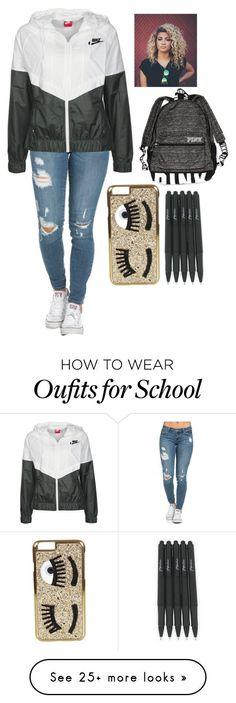 """School :("" by mmd32 on Polyvore featuring NIKE, Victoria's Secret and Chiara Ferragni"