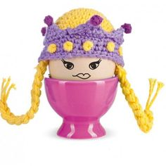 Hand-crocheted egg-warmers make a perfect and fun Easter gift. You can also add a Chicken Feet egg cup to make breakfast extra silly !Eggs also have dreams: be a Princess, just once! Or a Viking! Fulfil your eggs dreams with our unusual egg warmers Fun hats for all eggs this Easter as no one likes a chilly egg in the morning! You can choose from four different types of cosy , see drop down menu opposite. Why not add a fun Chicken Feet egg cup to go with your egg cosy ?100% cotton…