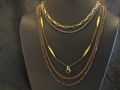 Industrial Chic Necklace Mixed Metal Layered by HutaPearlJewelry, $55.00