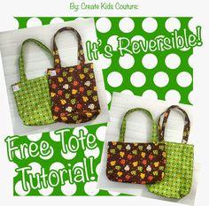 Free Tote Bag Tutorial -- Easy to Sew!