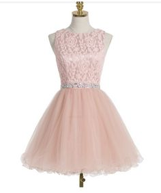 Pink Lace Pretty Lace A-Line Homecoming Dresses,Short Prom Dresses,Cocktail Dresses,Homecoming Dresses,Party Dresses