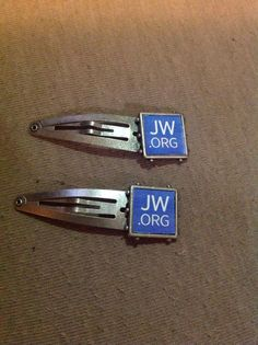 JW.org barrettes by AllThingsAndrea on Etsy, $3.99
